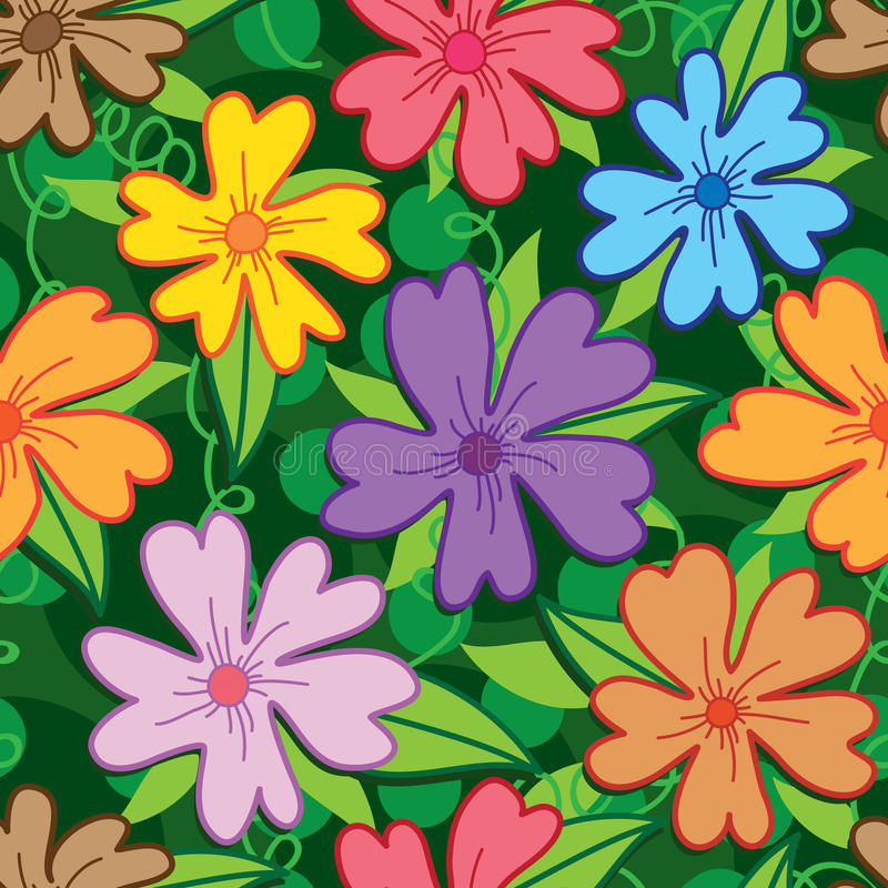 Bloem vijf bloemblaadje kleurrijk naadloos patroon vector illustratie