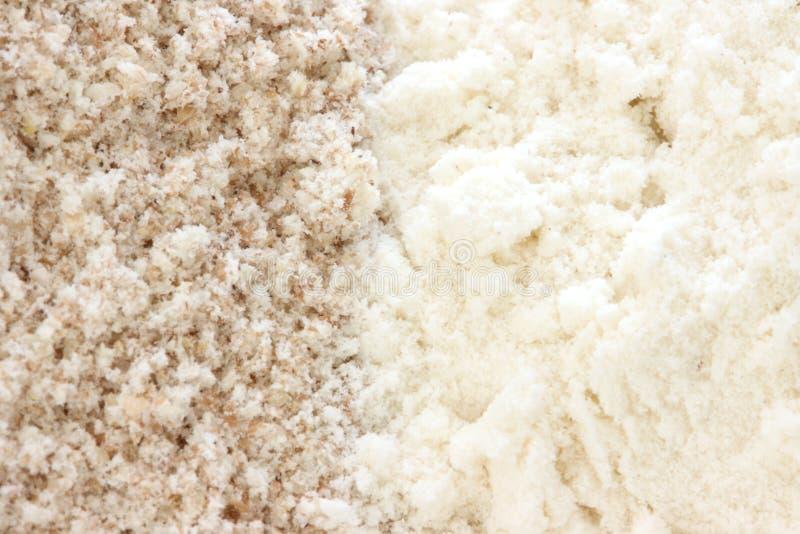 Bloem - vlotte en wholegrain types stock afbeelding