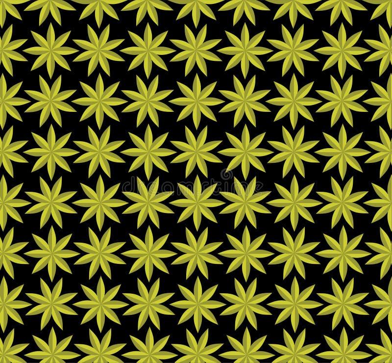 Bloemachtergrond, kleurrijk abstract geometrisch naadloos patroon, vector stock illustratie