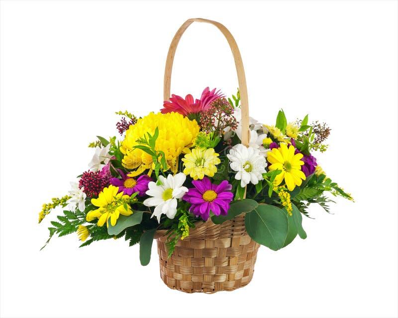 Bloemboeket van multi gekleurde chrysant en andere bloem stock fotografie