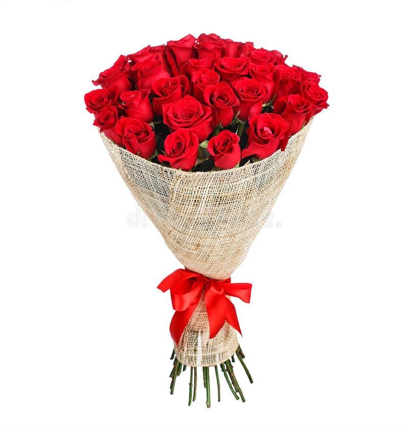 Bloemboeket van rode rozen royalty-vrije stock fotografie