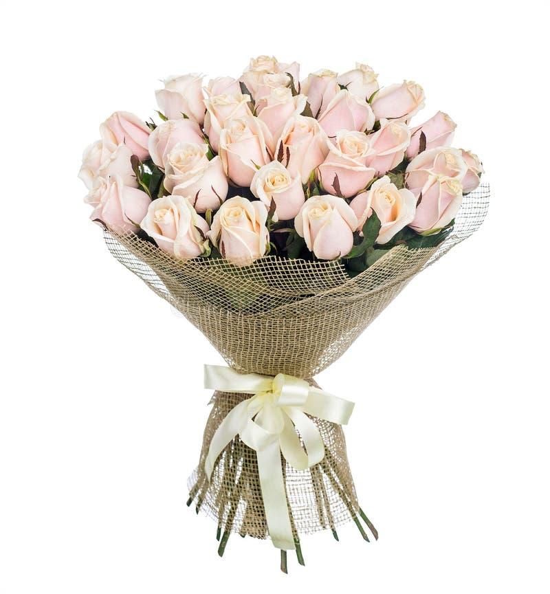 Bloemboeket van roze rozen royalty-vrije stock afbeeldingen