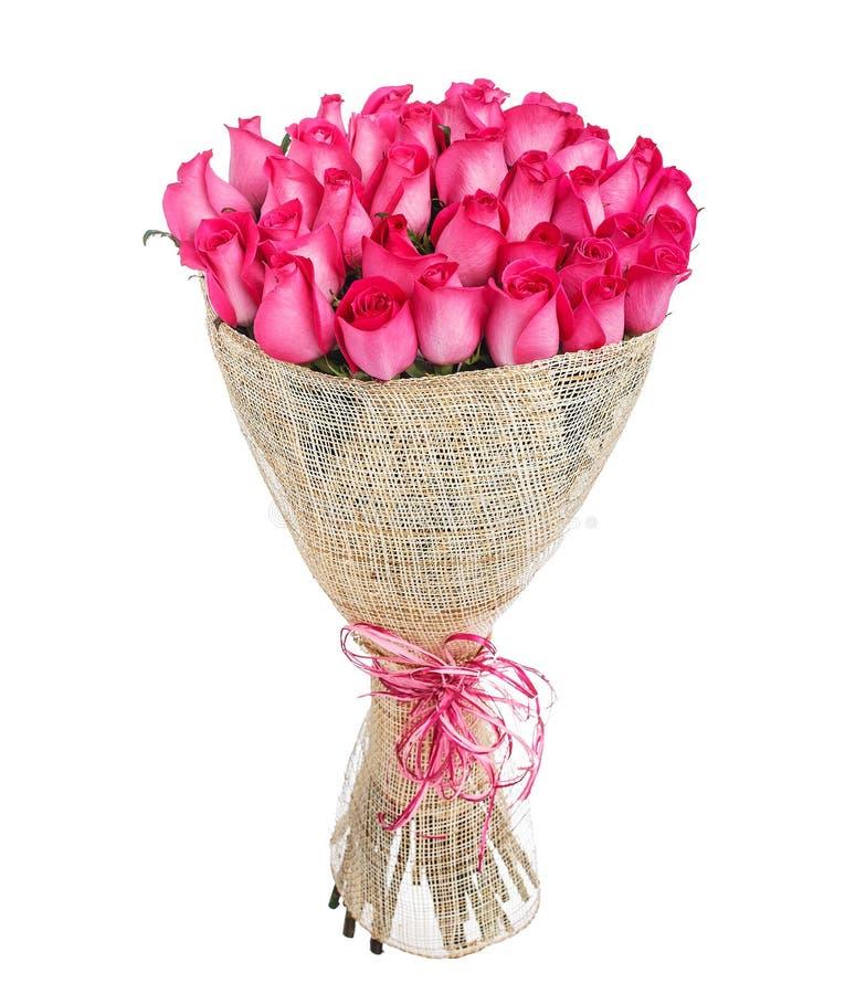 Bloemboeket van roze rozen stock foto's