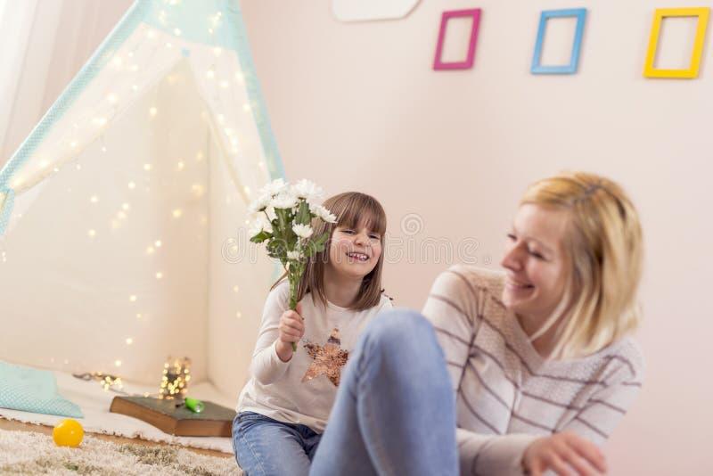 Bloemboeket voor Moeder` s dag stock fotografie