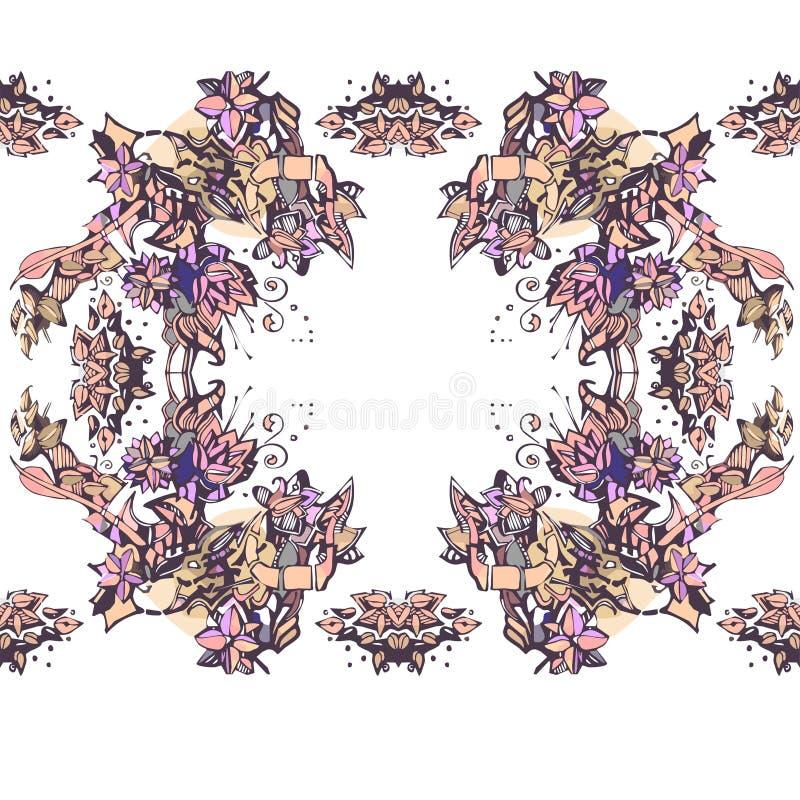 Bloemcaleidoscoop vector illustratie