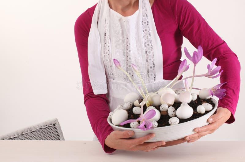 Bloemdecoratie voor Pasen stock fotografie