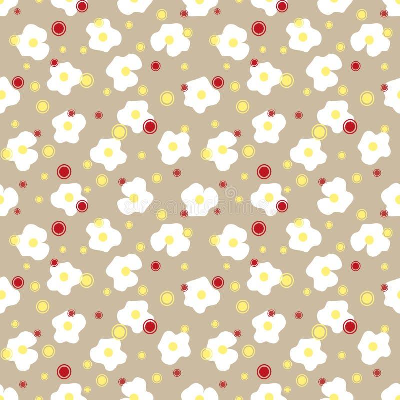 Bloemen Abstract naadloos patroon vector illustratie