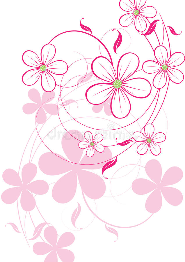 Bloemen abstract ontwerpelement vector illustratie