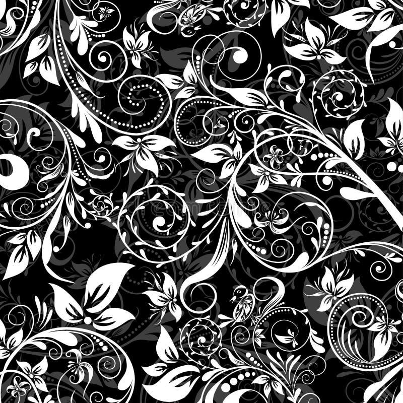 Bloemen abstract patroon, vector stock illustratie