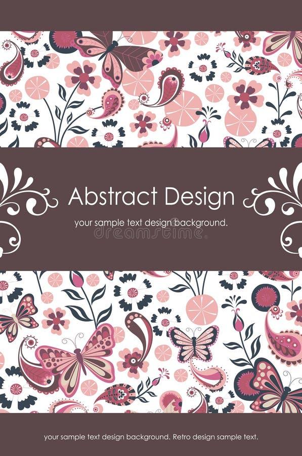 Bloemen Abstracte Achtergrond 1-5 vector illustratie