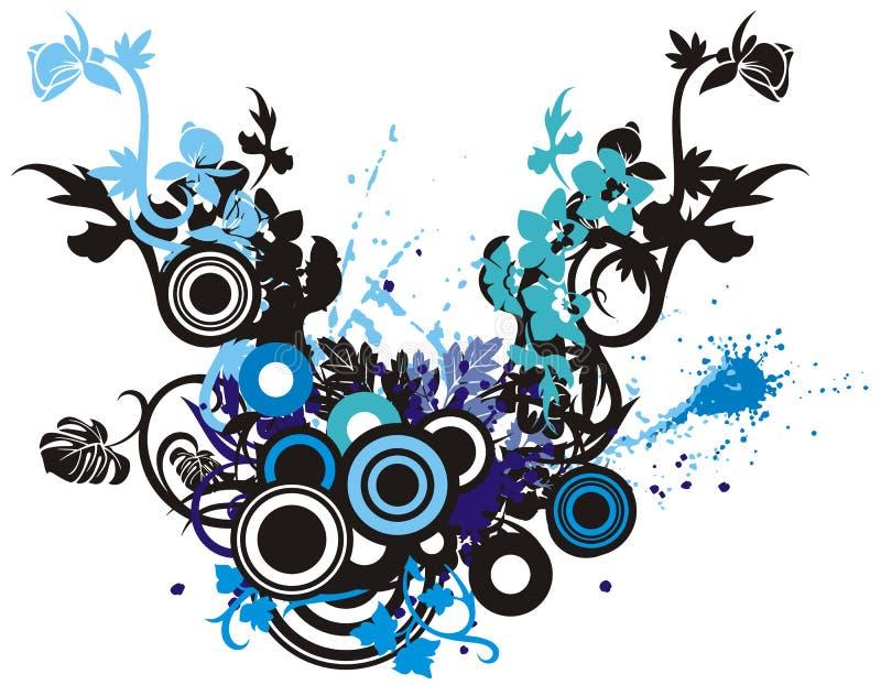 Bloemen abstracte achtergrond royalty-vrije illustratie