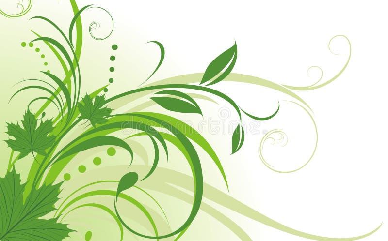 Bloemen abstracte achtergrond met esdoornbladeren vector illustratie