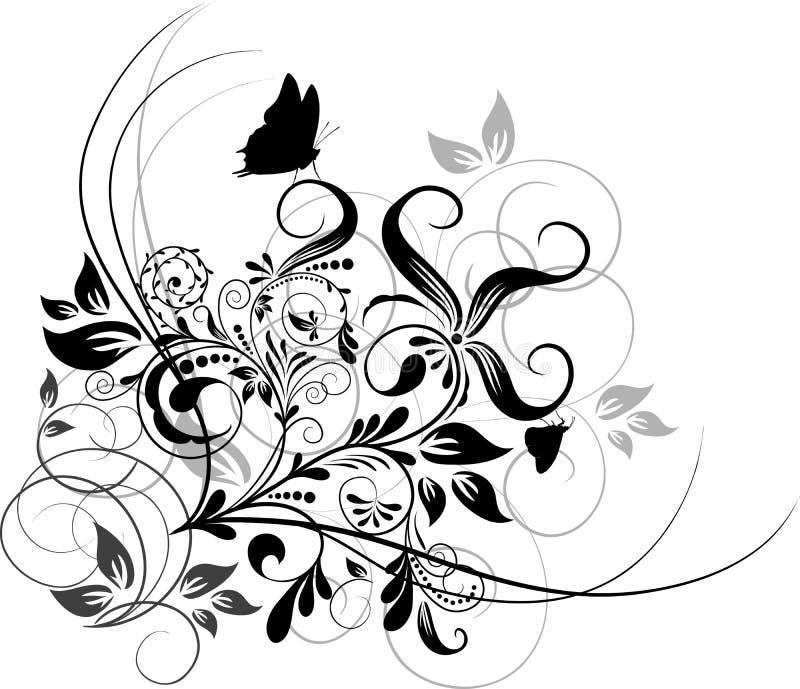 Bloemen abstracte achtergrond, vector stock illustratie