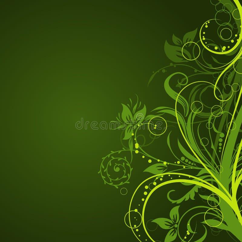 Bloemen abstracte achtergrond, vector royalty-vrije illustratie