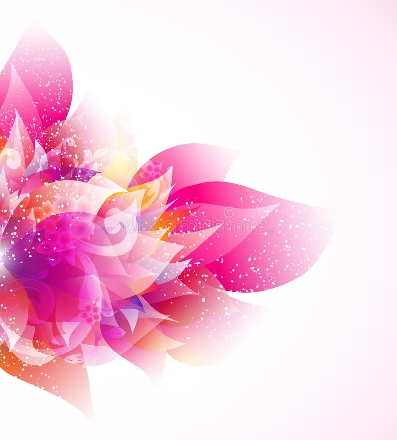 Bloemen abstracte vectorachtergrond stock fotografie