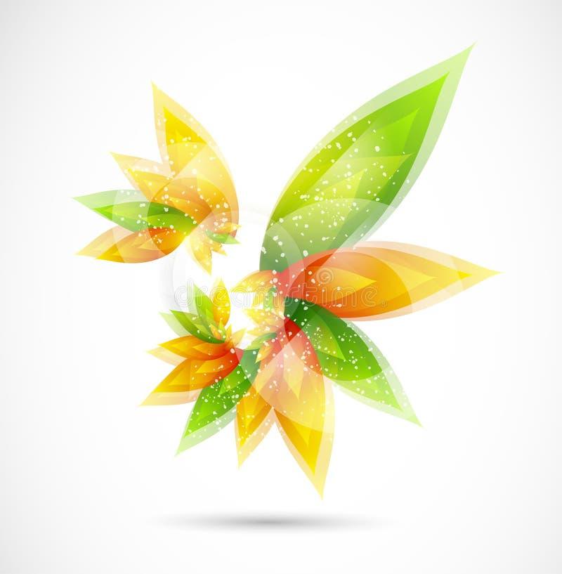 Bloemen abstracte vectorachtergrond royalty-vrije stock afbeelding