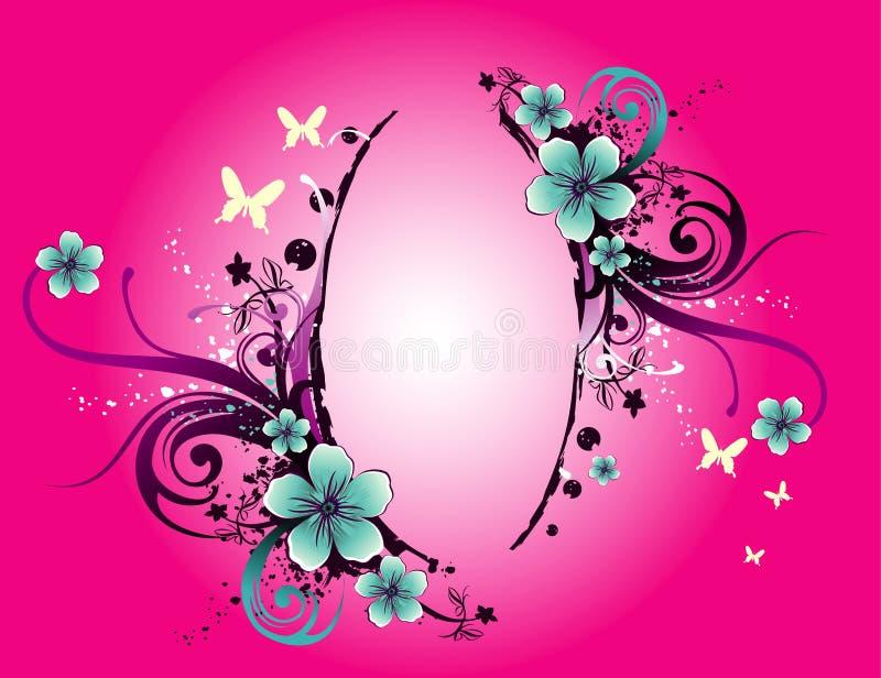 Bloemen abstracte vectorbanner royalty-vrije illustratie