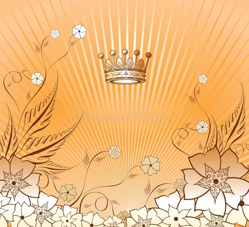 Bloemen Achtergrond 1-2 stock illustratie