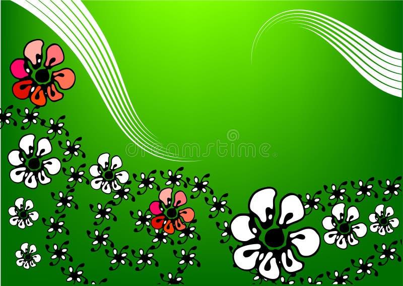 Download Bloemen achtergrond vector illustratie. Illustratie bestaande uit krul - 10775959