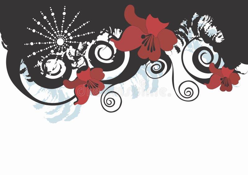 Bloemen achtergrond vector illustratie