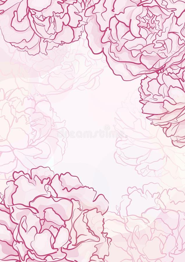 Bloemen achtergrond. royalty-vrije stock afbeelding
