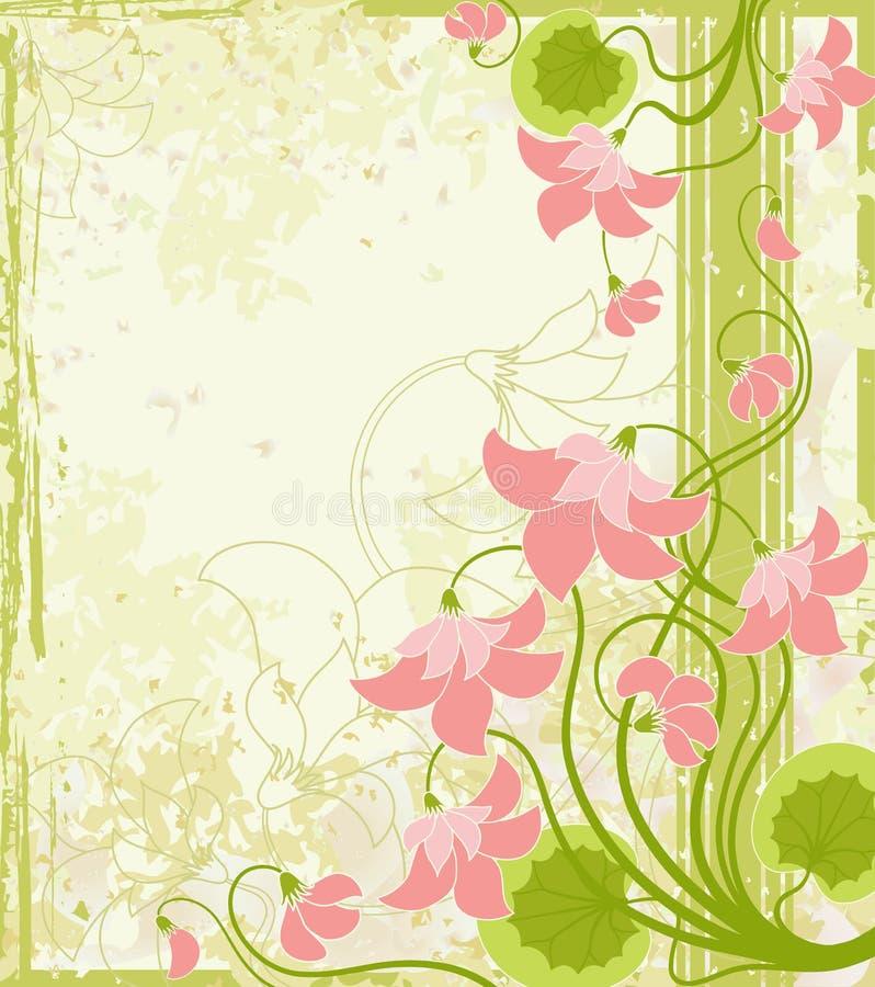 Bloemen achtergrond. stock illustratie