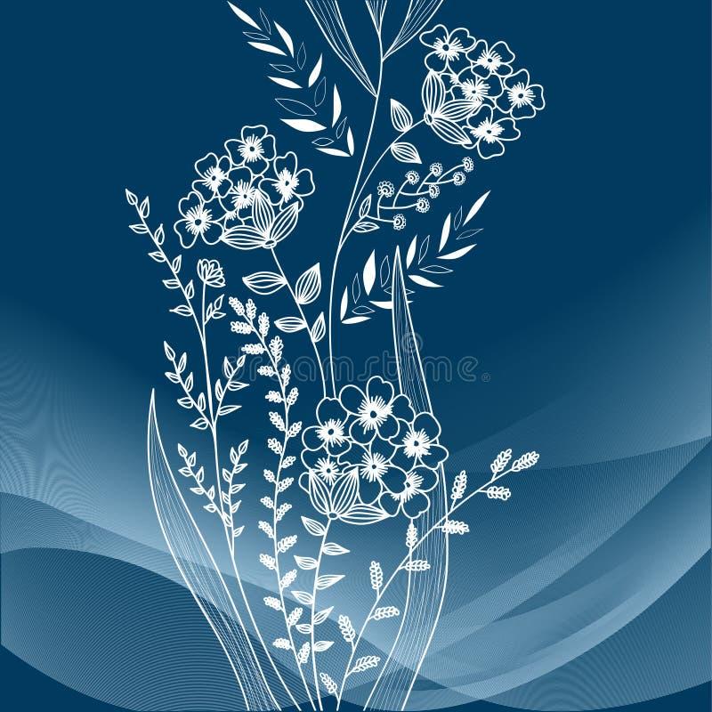 Download Bloemen achtergrond vector illustratie. Illustratie bestaande uit ornament - 29508430