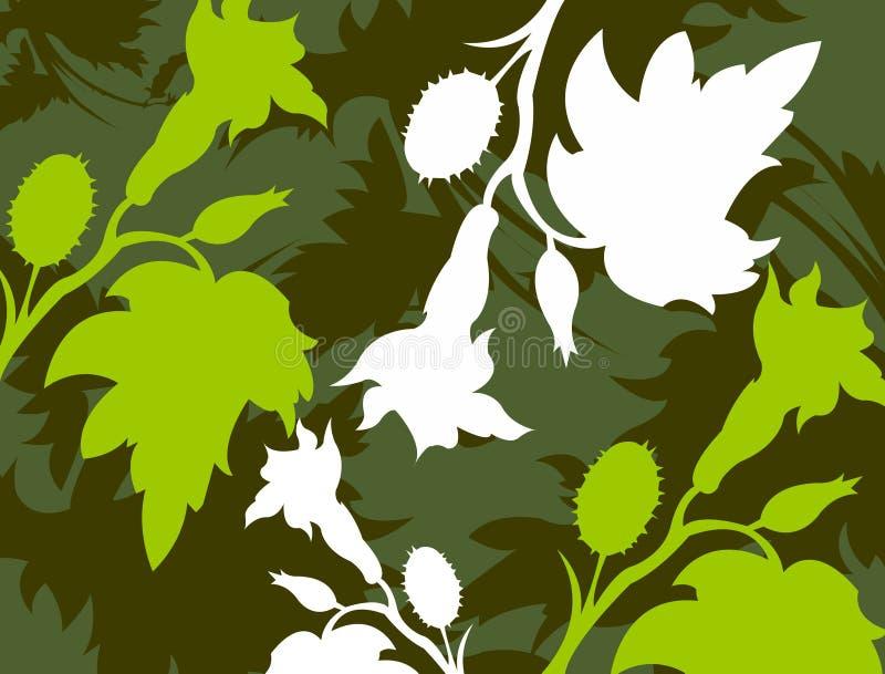 Bloemen achtergrond 5 stock illustratie