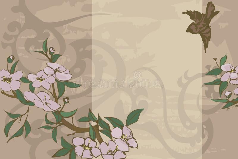 Bloemen achtergrond. royalty-vrije illustratie