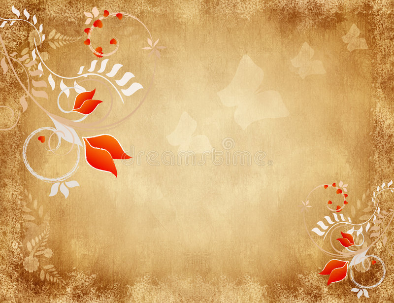 Bloemen Achtergrond Grunge vector illustratie
