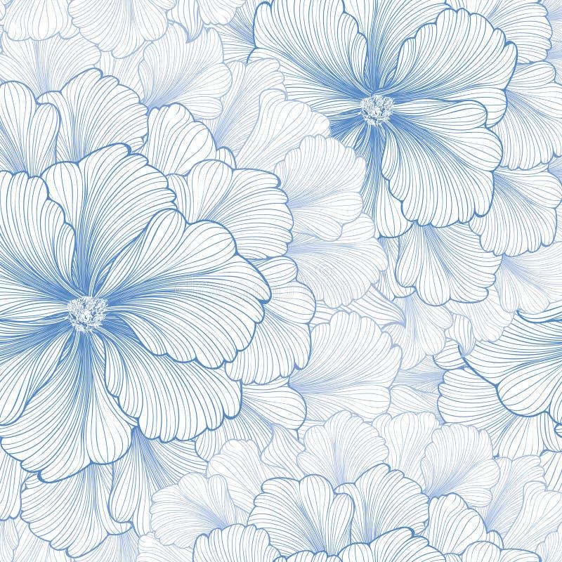 Bloemen achtergrond Het patroon van de bloem Bloei naadloze textuur royalty-vrije illustratie