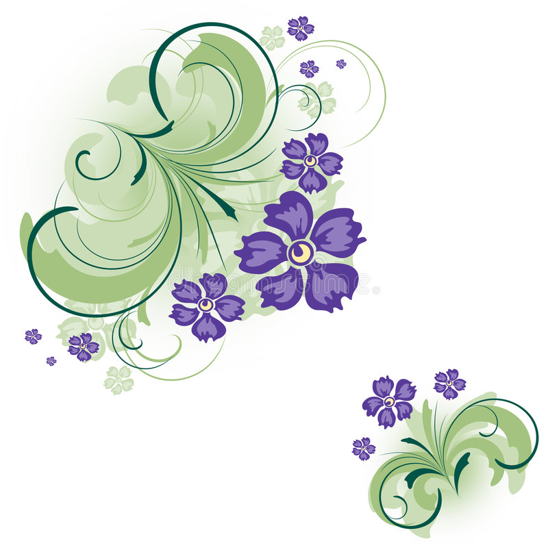 Bloemen achtergrond, hoek stock illustratie
