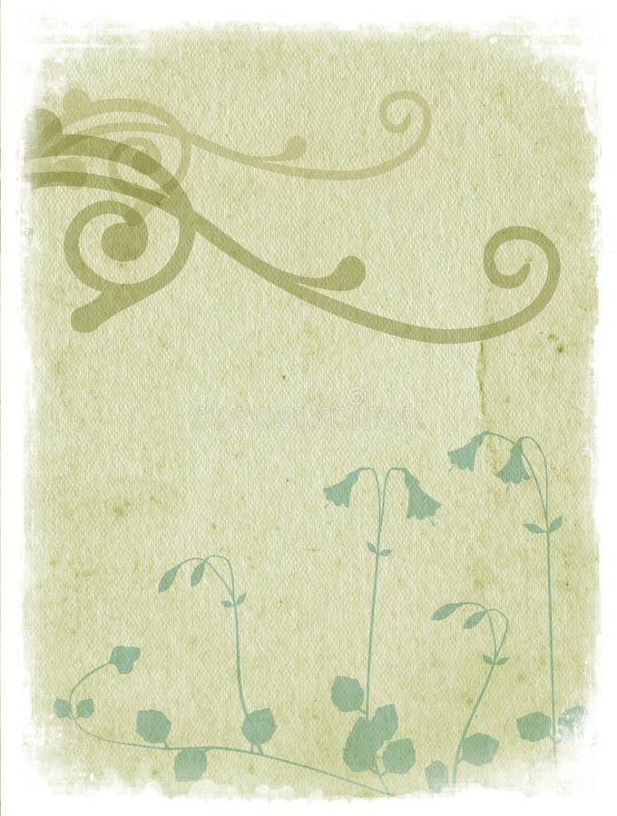 Bloemen achtergrond met lichtgroene ornamenten - royalty-vrije illustratie