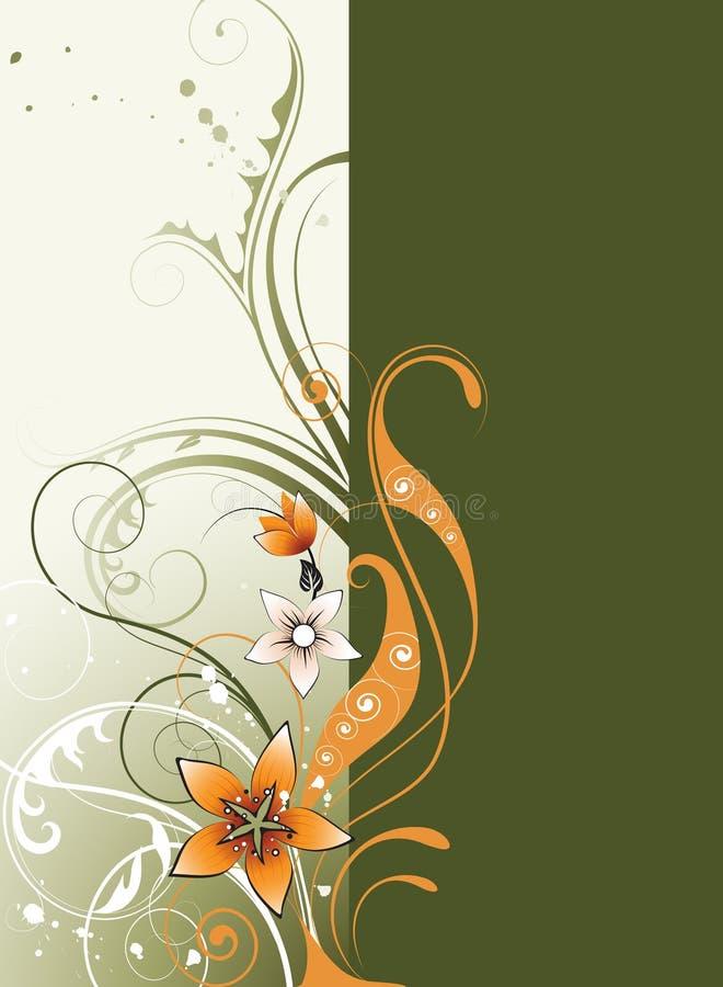 Bloemen achtergrond met ruimte voor tekst royalty-vrije stock afbeeldingen