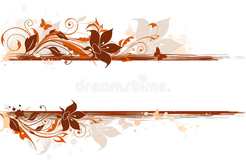 Bloemen achtergrond met tulp en ornament vector illustratie