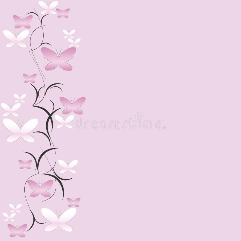 Bloemen achtergrond met vlinders royalty-vrije stock fotografie