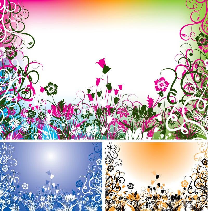 Bloemen achtergrond, vector stock illustratie