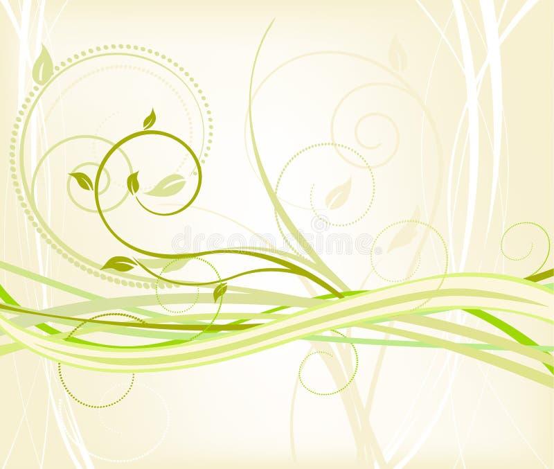 Bloemen achtergrond - vector vector illustratie