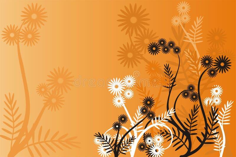 Bloemen achtergrond, vector vector illustratie