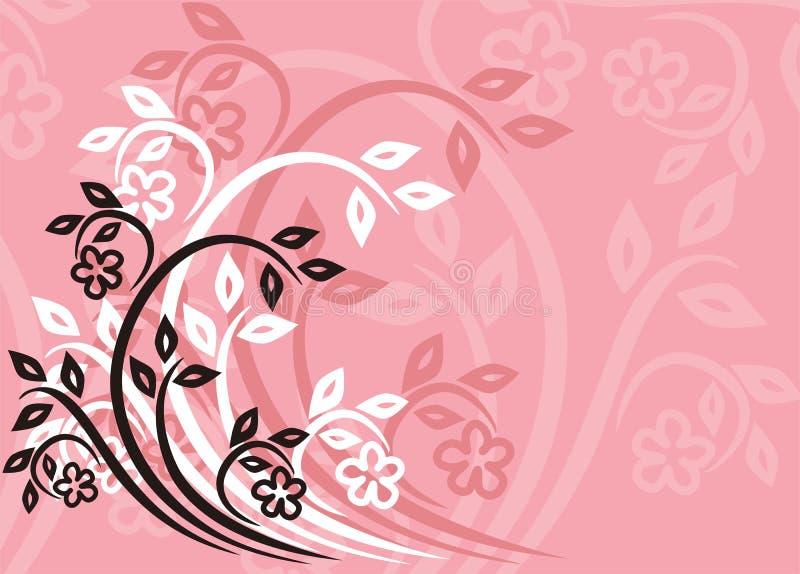 Bloemen achtergrond, vector royalty-vrije illustratie