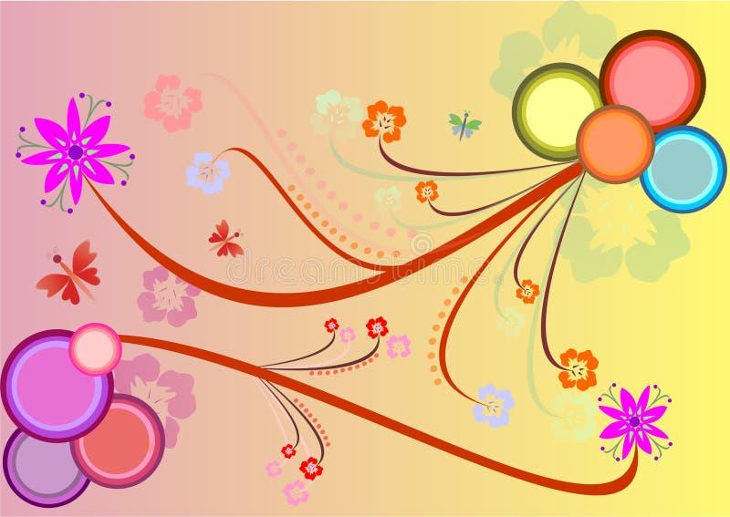 Bloemen achtergrond, vectorillustratie stock illustratie