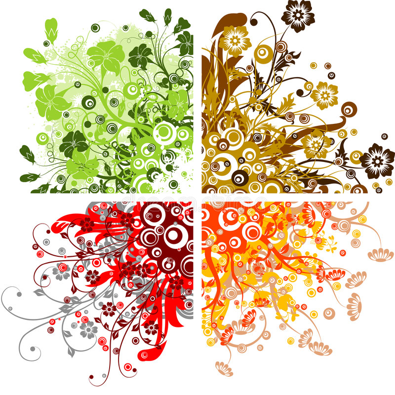 Bloemen achtergronden, vector vector illustratie