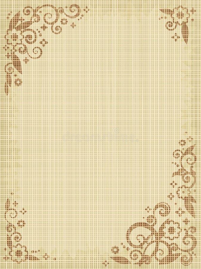 Bloemen af:drukken canvasachtergrond vector illustratie