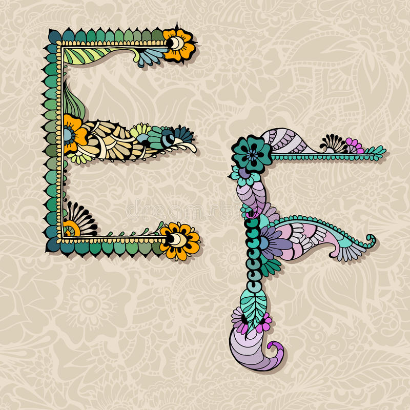 Bloemen alfabet