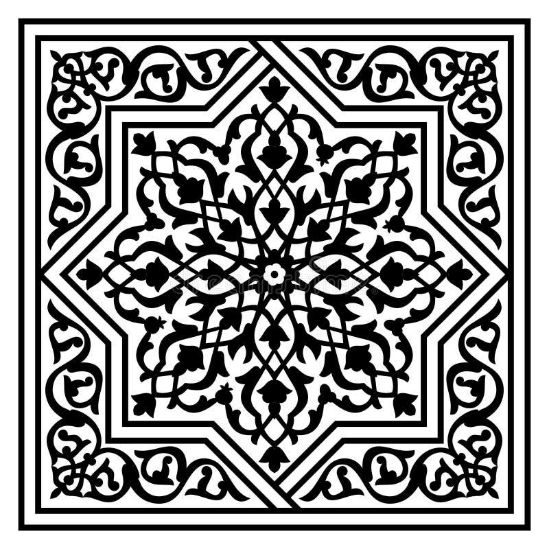 Bloemen Arabisch patroon royalty-vrije illustratie