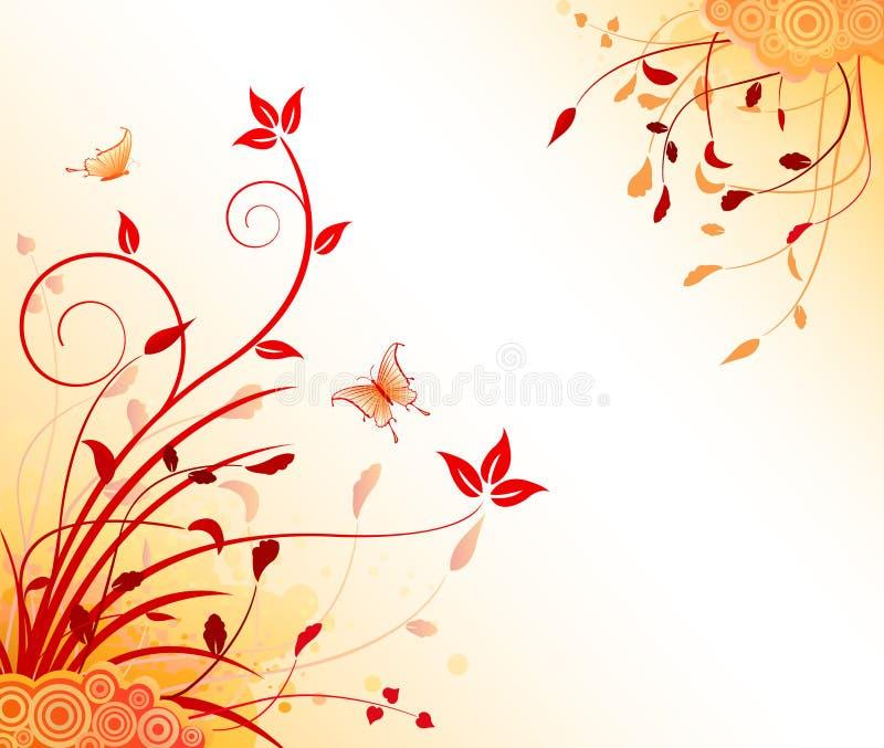 Bloemen artistieke ontwerpachtergrond stock illustratie