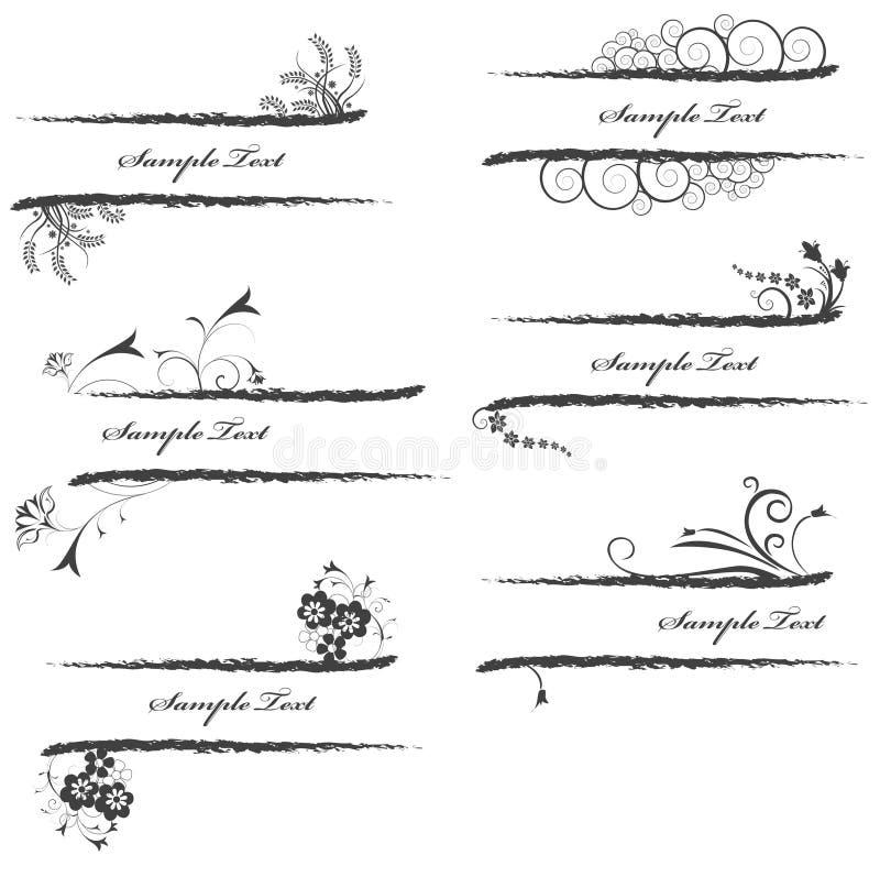 Bloemen banner stock illustratie