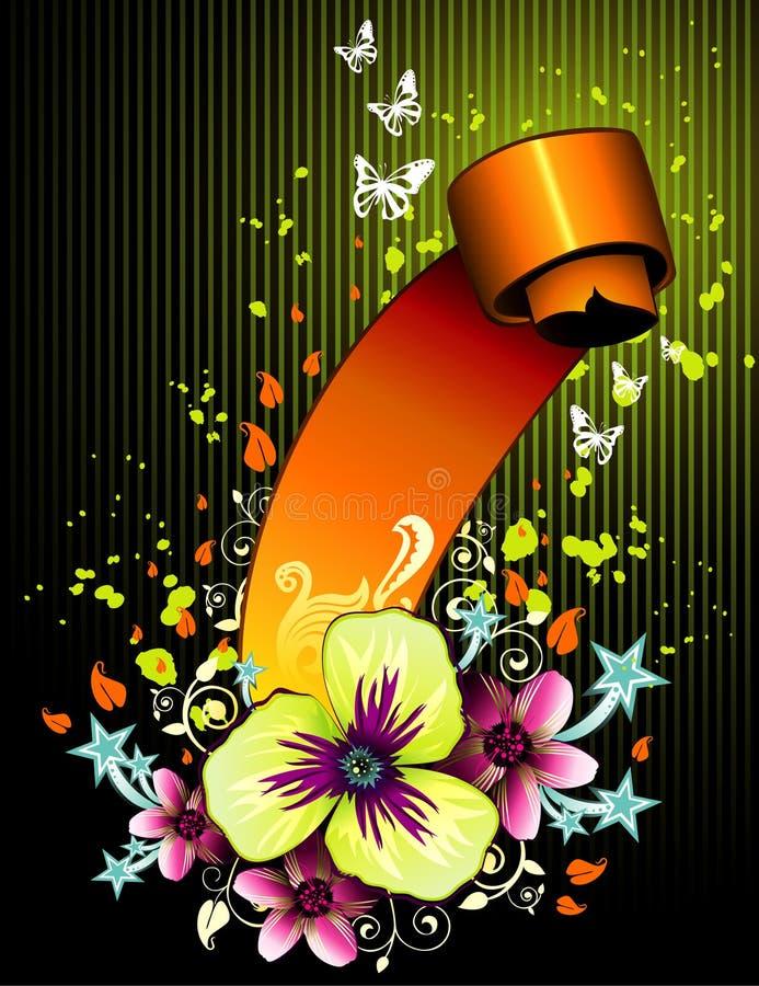 Bloemen bannervector stock illustratie