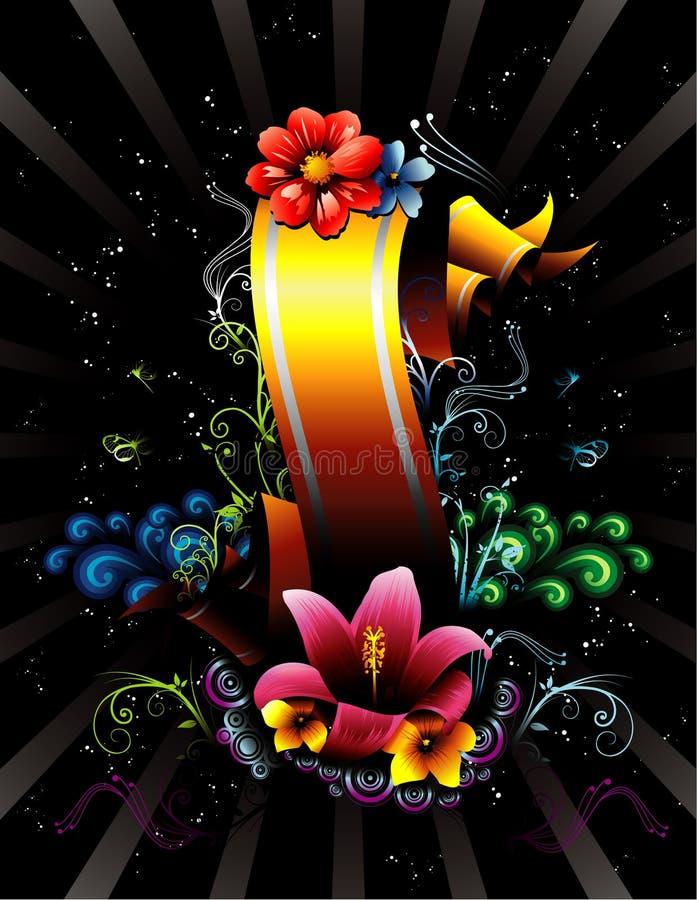 Bloemen bannervector vector illustratie