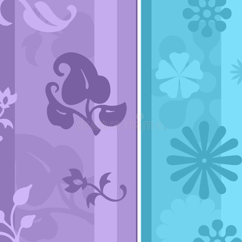 Bloemen Behang royalty-vrije illustratie